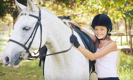 One 60-Minute Private Horseback-Riding Lesson (a $40 value) - Hoofprinted Hearts Farm in Odessa