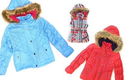 Dollhouse Girls' Belted Bubble Vests and Quilted Jackets