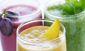 Vees Café: Three, Six, or Eighteen Fresh-Pressed Juices at Vees Café (Up to 55% Off)
