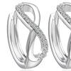 Huggie Hoop Infinity Earrings with Swarovski Elements