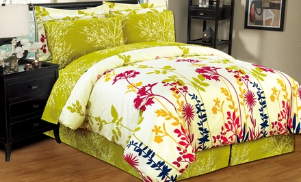 6- and 8-Piece Comforter and Sheets Sets. Multiple Options Available.