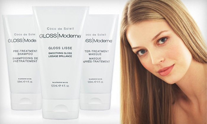 Gloss Moderne Keratin Hair-Smoothing Kit : $49 for a Gloss Moderne Professional Gloss Lisse Keratin Hair-Conditioning Trial Kit ($300 Value)