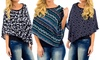 THE FUTURE IS NOW LLC: Women's Printed Crop Ponchos