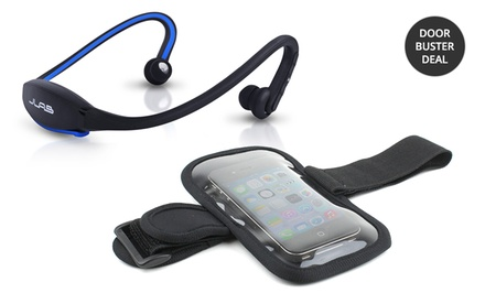 JLab GO Wireless Bluetooth Sport Headphones with Mic and Armband Bundle. Multiple Colors Available. Free Returns.