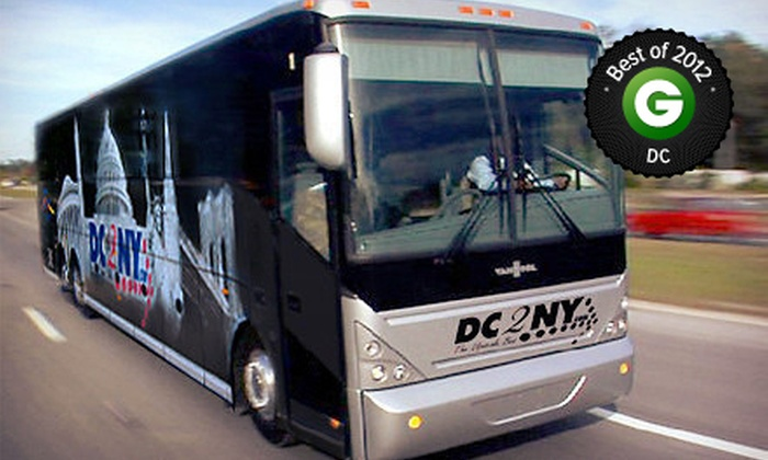 DC2NY - Multiple Locations: Roundtrip Bus Rides to New York City Valid Monday–Thursday or Any Day from DC2NY (Up to 61% Off)