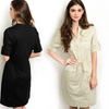 Utility Dress with Roll-Tab Sleeves