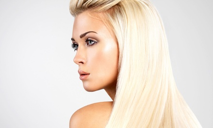 Haircut and Style with Optional Highlights, Color, or Brazilian Blowout from Hair by Kim (Up to 72% Off)