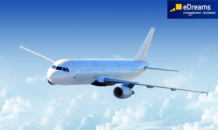 eDreams - EDREAMS: eDreams - Buono sconto sull'acquisto di un biglietto aereo per un volo di linea o low cost a partire da 9 €