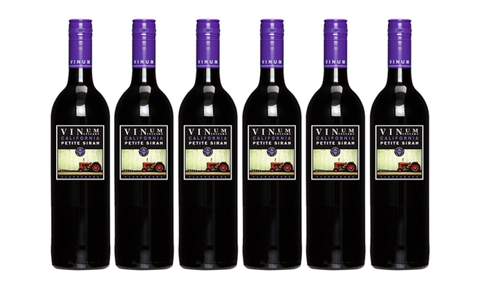 6 Bottles of Vinum Cellars 2010 Petite Sirah: 6 Bottles of Vinum Cellars 2010 Petite Sirah