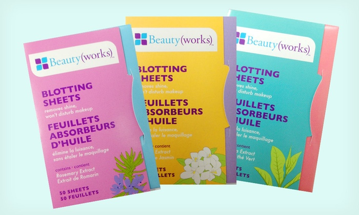 Blotting Sheets 3-Pack: $3.99 for a Blotting Sheets 3-Pack ($7.99 List Price)