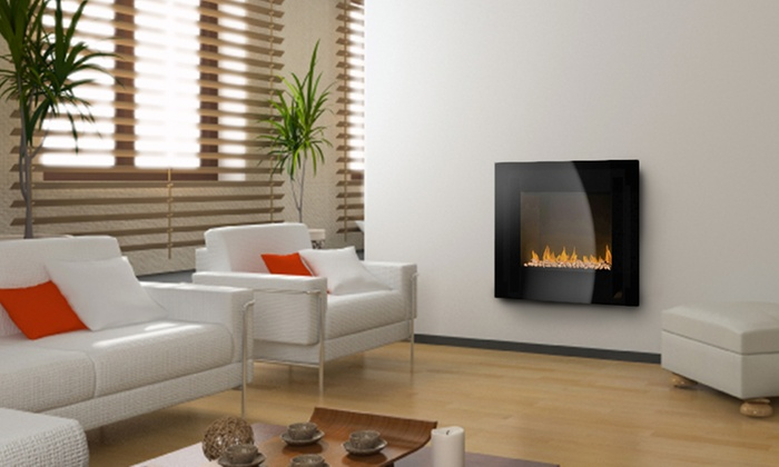 Groupon Goods Global GmbH: PIFCO Wall-Mounted Electric Fire With Pebble Effect for £89, Free Delivery (78% Off)