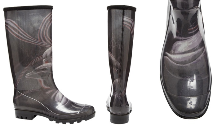 d57e7ea2a92 Henry Ferrera Patterned Rain Boots   Brought to You by ideel