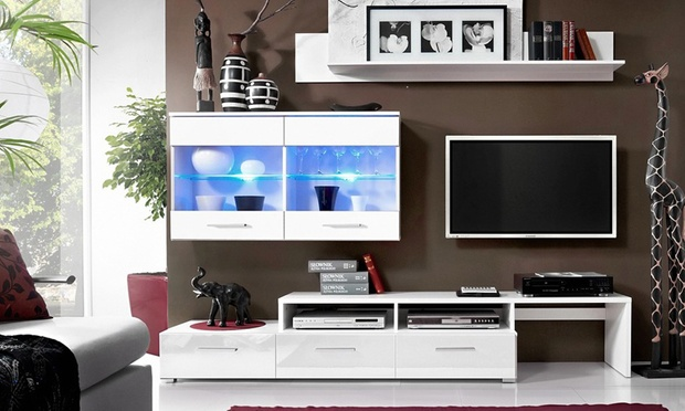 beautiful meuble tv ou ensemble mural groupon shopping with groupon meuble  tv b713ef95b42e