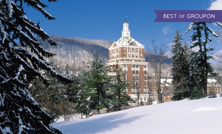 Stay at The Omni Homestead Resort in Hot Springs, VA. Dates into May.