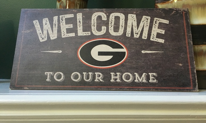 NCAA Distressed Welcome to Our Home Sign