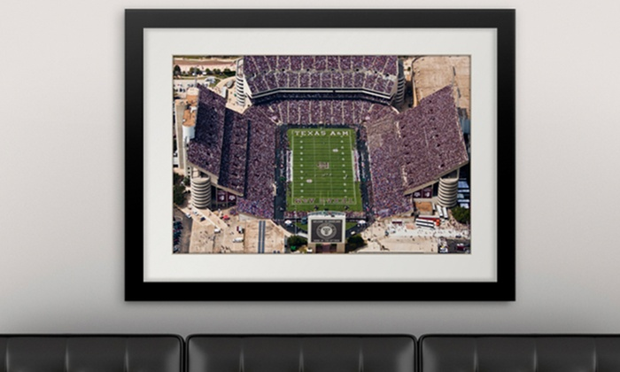"""16""""x24"""" NCAA Football Stadium Print with Matting in 23""""x31"""" Frame: 16""""x24"""" NCAA Football Stadium Print with Matting in 23""""x31"""" Frame. Multiple Teams Available. Free Returns."""