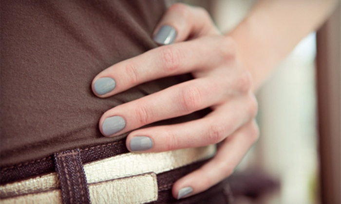 Cherish Nail Salon - Downtown: Hot-Stone Mani-Pedi or 45-Minute Reflexology Massage at Cherish Nail Salon (Up to 58% Off)