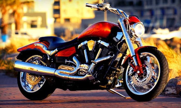 Iron Buffalo Motorcycle Training - Commerce City: Basic Course or Advanced Course with License Testing at Iron Buffalo Motorcycle Training (Up to 60% Off)