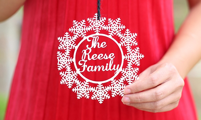 Morgann Hill Designs: One, Two, or Three Custom Snowflake Ornaments from Morgann Hill Designs (Up to 60% Off)