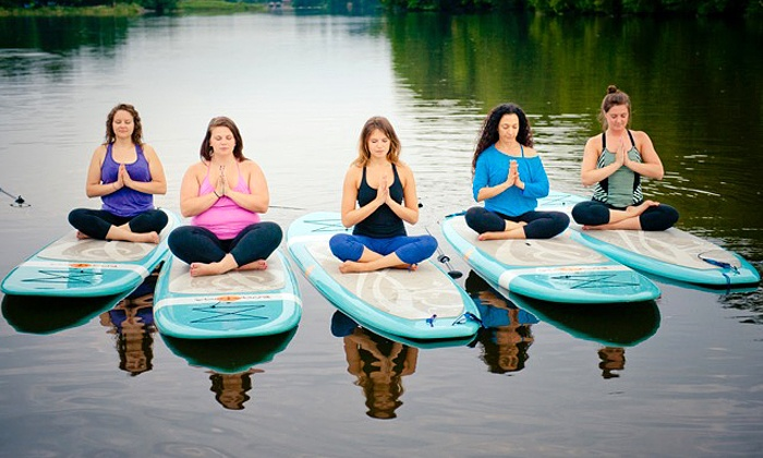 Moksha Yoga Hamilton - Christie Lake Conservation Area: C$45 for 90-Minute SUP Yoga Class for Two from SUP Yoga Hamilton with Moksha Yoga Hamilton (C$90 Value)