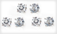 Up to 96% Off Simulated-Diamond Stud Earrings at  2-Carat Cubic Zirconia Stud Earrings