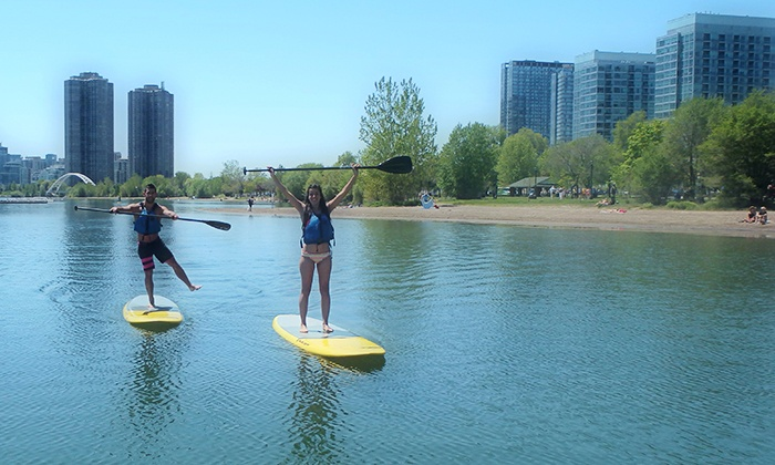 Toronto Adventures Inc. - Sunnyside Beach: C$34.95 for an Intro to Paddleboarding Lesson from Toronto Adventures Inc (C$69.95 Value)