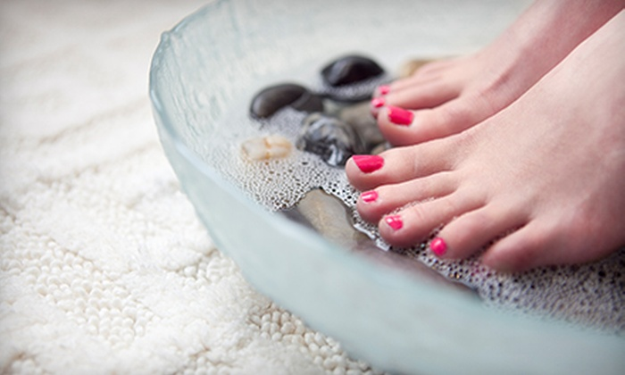 A Head Of Time Salon - Greenville: One or Two Mani-Pedis at A Head Of Time Salon (Up to 68% Off)
