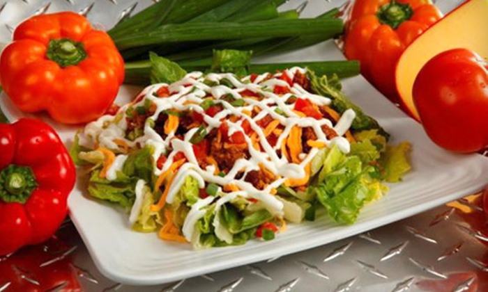 Muscle Maker Grill - Multiple Locations: Healthy Burgers, Wraps, Salads, and Entrees, or $29 for $60 Toward Health-Food Catering at Muscle Maker Grill