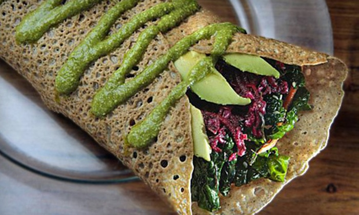 The Sunflower Cafe - Petaluma: Organic Vegetarian Cuisine at The Sunflower Cafe in Petaluma (Up to 54% Off). Two Options Available.