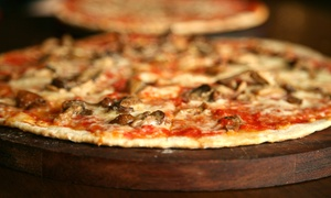 "Lou's Pizza Factory: $20 for a 16"" Pizza with an Appetizer and Two Beers or Sodas at Lou's Pizza Factory ($32.45 Value)"