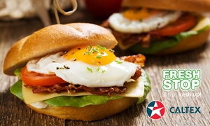 Caltex FreshStop Bluff: All-Day Breakfast Bun with Choice of Coffee for R25 at Caltex FreshStop Bluff (46% Off)