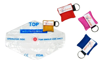 5-Pack of CPR Mask Keychain Kits