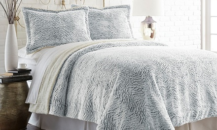Black Friday: Faux-Fur and Sherpa Reversible Comforter Sets (2 or 3pc)