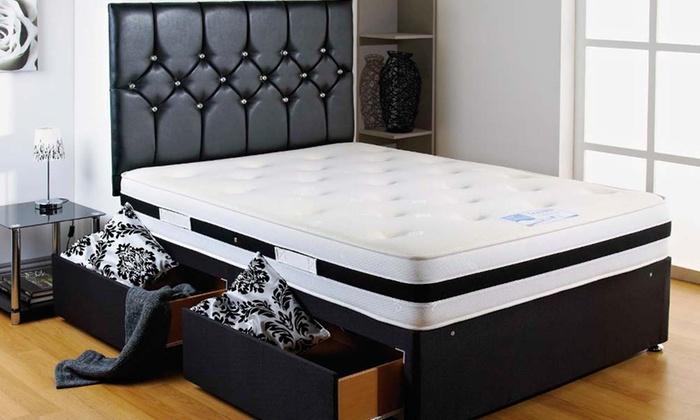 Divan bed set groupon goods for Divan bed and mattress deals