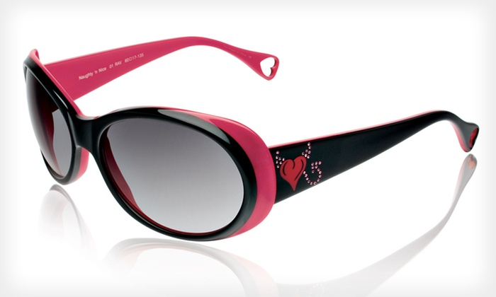 Naughty 'n' Nice Sunglasses: $39 for Naughty 'n' Nice Sunglasses by Betsey Johnson ($225 List Price). Three Colors Available.
