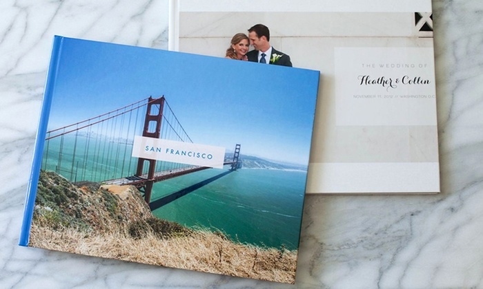 """Custom Photo Books from Picaboo: 9""""x11"""" or 11""""x14"""" Classic 20-Page Hardcover Photo Book from Picaboo (75% Off). Free Shipping."""