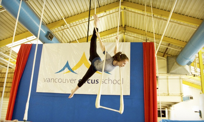 Vancouver Circus School - New Westminster: Intro to Circus Class at the Vancouver Circus School (Up to 54% Off). Three Options Available.