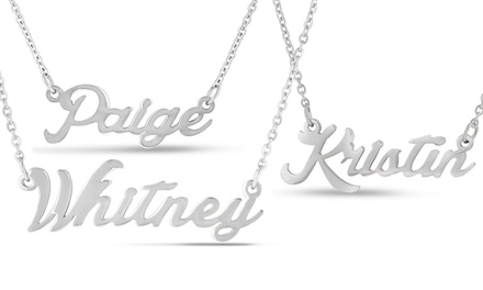 Top 100 Name Necklaces K to ZName Necklaces In Silver K–W (Kaitlyn–Whitney)