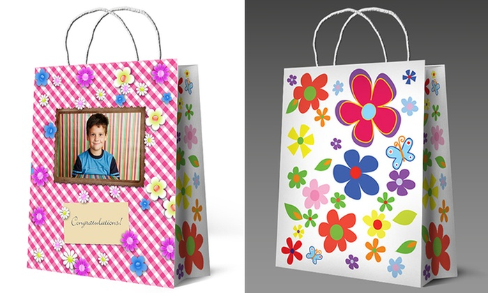 Personalized photo gift bags picture gift bags groupon picture gift bags personalized gift bags from picture gift bags 52 off negle Image collections