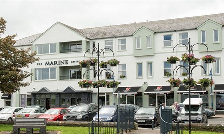 Ballycastle: 1 or 2 Nights for Two with Breakfast and Option for£5-10 Dining Credit at The Marine Hotel Ballycastle
