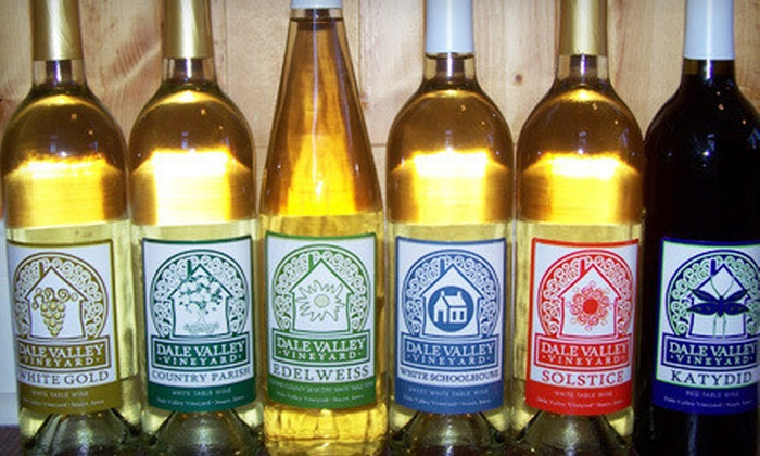 Dale Valley Vineyard - Stuart: $16 for Wine Tasting for Four with Take-Home Bottle of Wine and Wineglasses at Dale Valley Vineyard ($32 Value)
