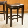 Backless Barstools with Nailhead Trim (Set of 2)