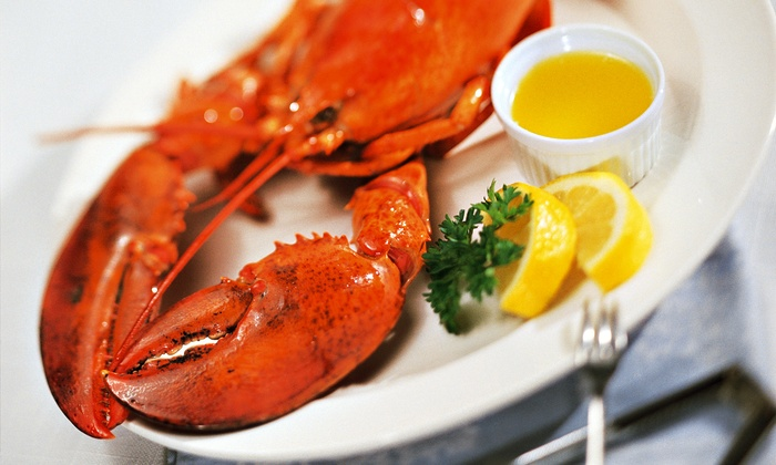 Caffe Regatta Oyster Bar & Grill - Pelham: Lobster Dinner for Two or Four with Wine at Caffe Regatta Oyster Bar & Grill (Up to 51% Off)