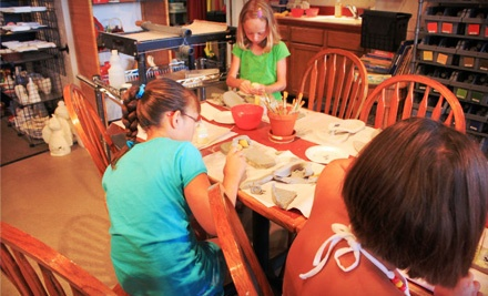 $24 Groupon - It's Yours Pottery in Omaha