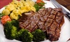 Gino's Steak House - Multiple Locations: $25 for $50 Worth of Steakhouse Fare and Drinks at Gino's Steak House