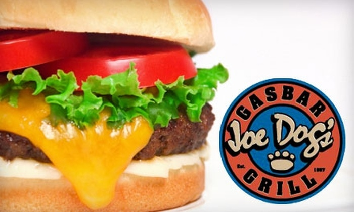 Joe Dog's Gasbar Grill - Burlington: $15 for $30 Worth of Pub Fare at Joe Dog's Gasbar Grill in Burlington