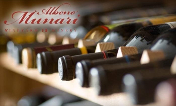 Albeno Munari Vineyard & Winery - Angels City: $20 for $50 Worth of Wine at Albeno Munari Vineyard & Winery