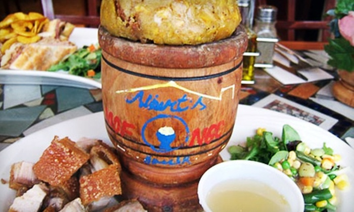 Aroma Seafood Grill & Lounge - New York City: Latin Dinner with Appetizer and Entrees for Two or Four at Albert's Mofongo House