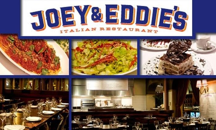 Joey & Eddie's - North Beach: $20 for $45 of Italian Cuisine and Drink at Joey & Eddie's