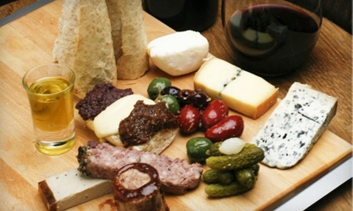 Bin No. 18 - Media and Entertainment District: $10 for $20 Worth of Mediterranean Dinner Fare and Drinks at Bin No. 18